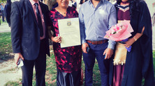 Congratulations! Our very own Moe Tu'ipulotu graduates Master of Health Sciences