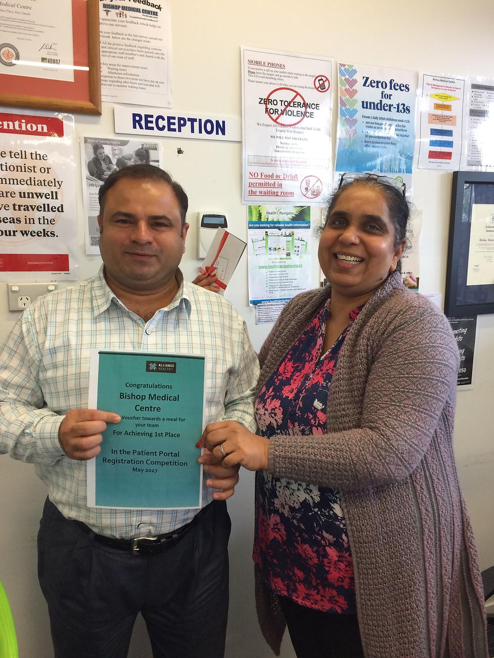 (Dr. Rajneesh Sharma & Sushma Sharma of Bishop Medical)