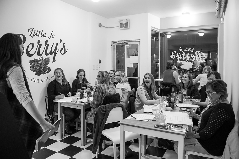 Little Jo Berry's calligraphy workshop with the Happy Ever Crafter, Becca Courtice