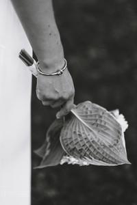 Detail of bride's bracelet and bouquet on her wedding day at the Ottawa Arboretum. Photo by Melanie Mathieu, ottawa Gatineau photographer.