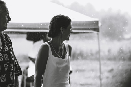 black and white image of bride at outdoor wedding on a farm in gatineau QC, ottawa gatineau wedding photographer.