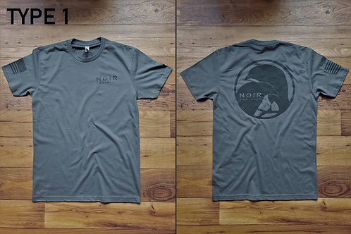 Noir Type 1 T-Shirt OG Raven Logo (Gray)