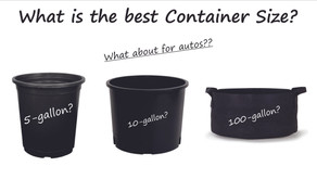 What is the best Container Size when using Soil Charge Packs?