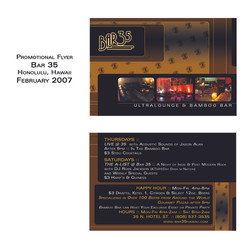 Indigo Restaurant Flyer
