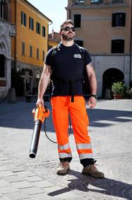 Fabrizio, street cleaner. Piazza Dante, Grosseto.
