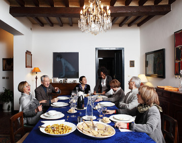 Sunday February 22, 2015 Parma. Lunch in a private house.