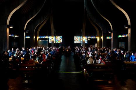 San Nicolao della Fluè's church, Milano, Sunday 11:02 am.