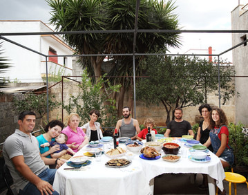 Sunday August 3, 2014 Taurisano (Lecce). Lunch in a private house.