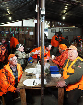 Sunday November 1, 2015 Casciano di Murlo (Siena). Lunch on a hunting lodge.