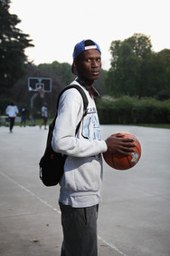 Toure Oumar at the basket playground in Parco Sempione.