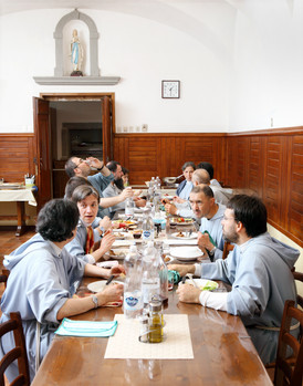 Sunday November 19, 2014 – Monte San Savino (Arezzo). Lunch of the Franciscan Fraternity of Bethany.