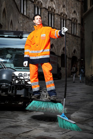 Antonio, street cleaner. Via di Città, Siena.