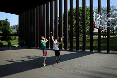 Basket playground in Parco la Spezia.