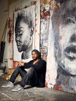 """Christopher Luigi Kanku Veggetti, 40 years old, is an artist native of the Democratic Republic of Congo. He arrived in Italy when he was only a little boy and was later adopted, at ten years old, by a family living in the Brianza region. He studied graphic design however, his artistic journey actually began with a competition with his sister for winning best painting: """"I painted a scarecrow while she had painted a horse. We took the paintings to a local artist's boutique who showed interest for my piece"""". Christopher has not cut ties with his African roots. Indeed, guided by his original and never banal outlook, he is to this day involved with the community of his country of origin on a personal as well as political and cultural level."""