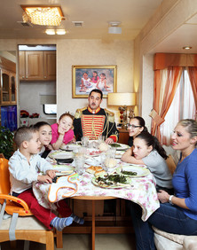 Sunday December 13, 2015 Milan. Lunch on a family of circus performers's caravan.