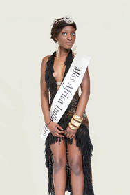Beauty contest, Miss Africa in Italy 2012, Brescia, the winner.