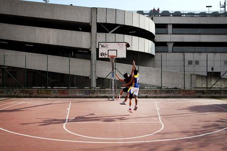Basket playground in Via Terenzio.