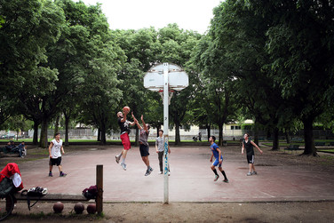 Basket playground in Parco della Resistenza.
