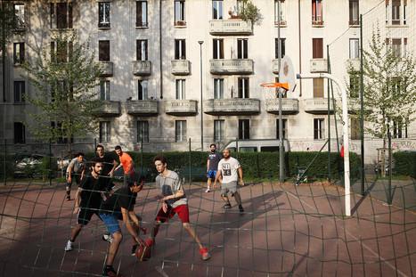 Basket playgroynd in Via Dezza.