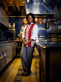 "Victoire Bouna Gouloubi, 37 years old, is a Chef native of the Democratic Republic of Congo. She was just about twenty years old when she first arrived in Italy to study Law however, after not long she decided to dedicate her-self to her passion: cooking. She studied at length the Italian cuisine nonetheless, her interest for this profession began in Africa: "" I was the eighth of nineteen siblings, everyday my sisters and I took turns to cook for the whole family. In Africa my passion was born, in Italy it became my profession"". Currently she works and lives in Milan where she is able to express her-self through the flavours of the Italian culinary culture while always staying true to the scents of her land, Africa."