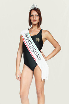 Beauty contest, Miss Trans Italy 2012, Torre del Lago, the winner.