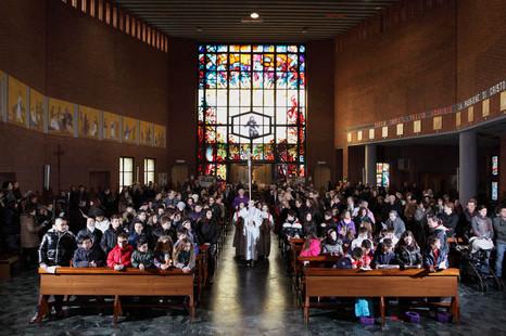 Santa Famiglia di Nazareth's chirch, Torino, Sunday 12:05 am.
