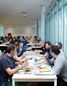 Sunday November 9, 2014 Settimo Torinese (Turin). Lunch in the canteen (Pirelli Factory).