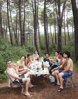 Sunday June 29, 2014 Puntala (Grosseto). Lunch in the pine forest.