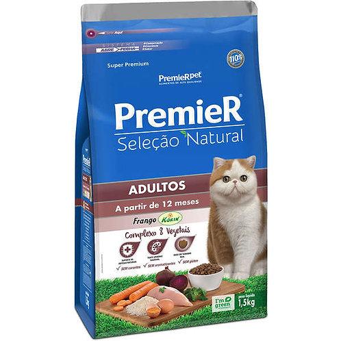 Premier Seleção Natural Gatos Adultos Frango 1,5kg