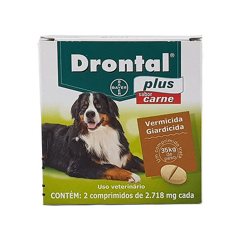 Drontal Plus Vermífugo Bayer 35kg - 1 comprimido