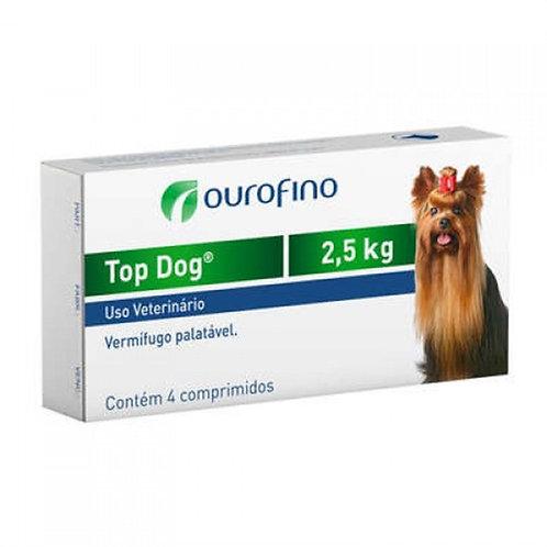 Top Dog Vermífugo Palatável 2,5kg - 4 comprimidos