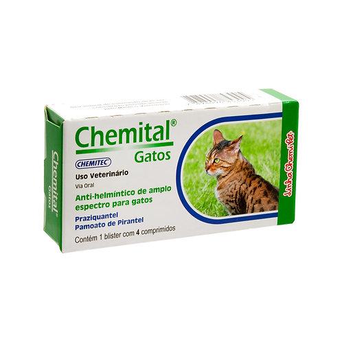 Chemital Gatos 4 Comprimidos
