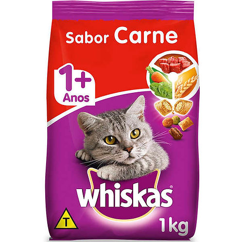Whiskas Gatos  Adultos Carne 1kg