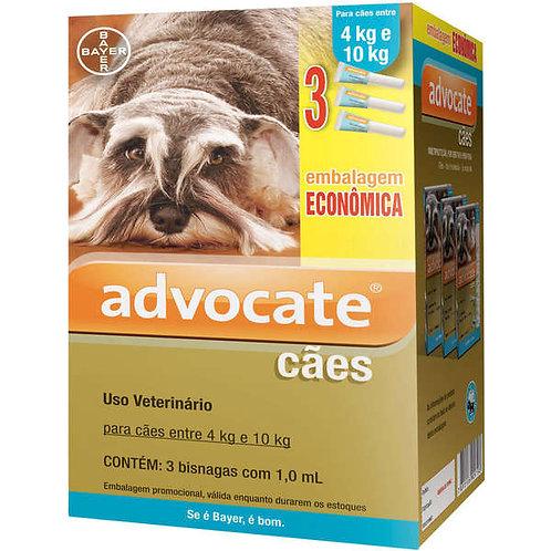 3 Bisnagas - Antipulgas Advocate Bayer para Cães de 4 a 10kg