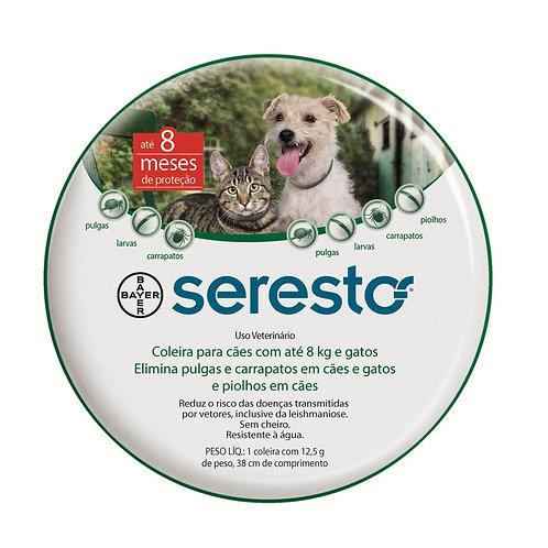 Seresto Coleira Antipulgas e Carrapatos para Cães e Gatos até 8 Kg