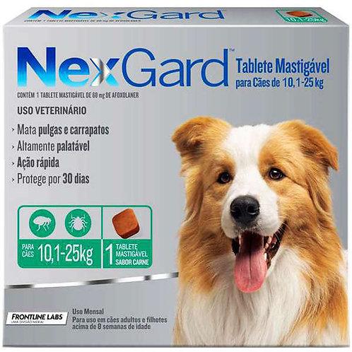 NexGard para Cães de 10,1 a 25 Kg - 1Tablete