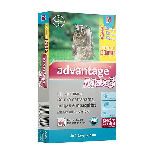 Advantage Max 3 Antipulgas e Carrapatos Combo para cães entre 4 e 10kg 1,0ml