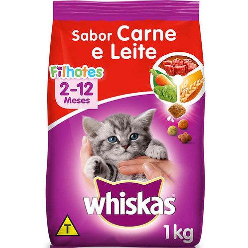 Whiskas Gatos Filhotes Carne e Leite 1kg