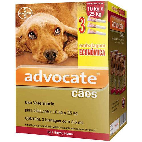1 Bisnaga - Antipulgas Advocate Bayer para Cães de 10 a 25kg