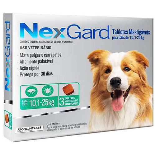 NexGard  para Cães de 10,1 a 25 Kg - 3 Tabletes