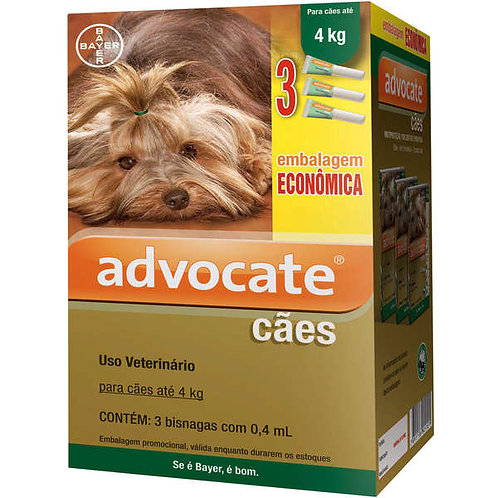 1 Bisnaga - Antipulgas Advocate Bayer para Cães até 4kg