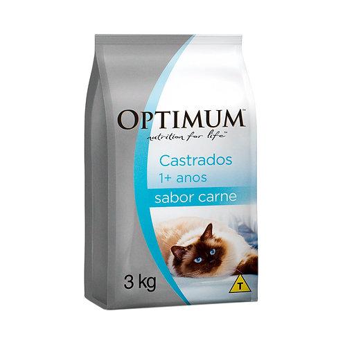 Optimum Gatos Castrados Carne 3kg