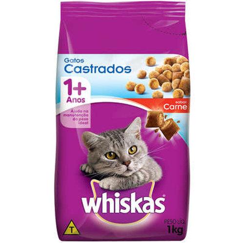 Whiskas Gatos Castrados Carne 1kg