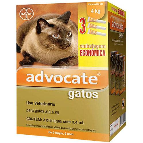 1 Bisnaga - Antipulgas Advocate Bayer para Gatos até 4kg