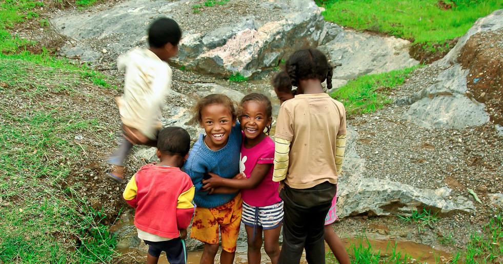 Kinder aus dem Dorf