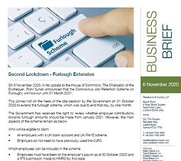 Second Lockdown – Furlough Extension
