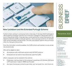 New Lockdown and the Extended Furlough Scheme