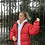 Thumbnail: RED TNF NUPTSE 700 WUTH REAR CENTRE LOGO (MENS M // WOMENS L)