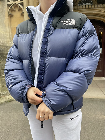NAVY AND BLACK TNF NUPTSE 700 (WOMENS S-M // MENS S)