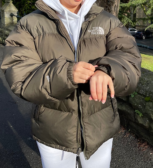 BROWN TNF NUPTSE 700 (MENS L // WOMENS XL)